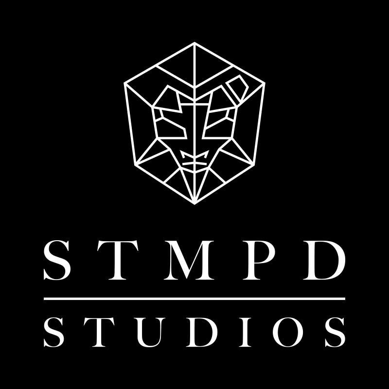 STMPD studios logo zwartwit